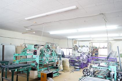 機能的に配置された畳工場